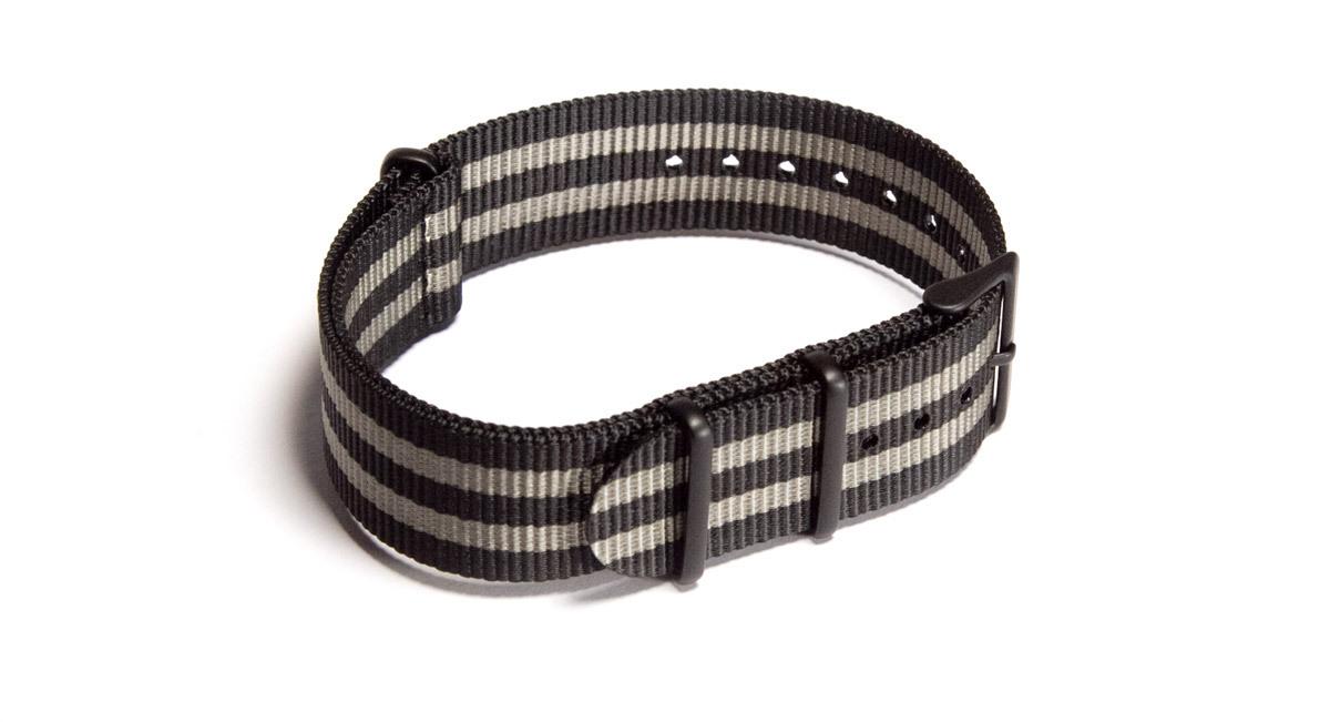 Black & Dark Grey NATO strap (PVD)
