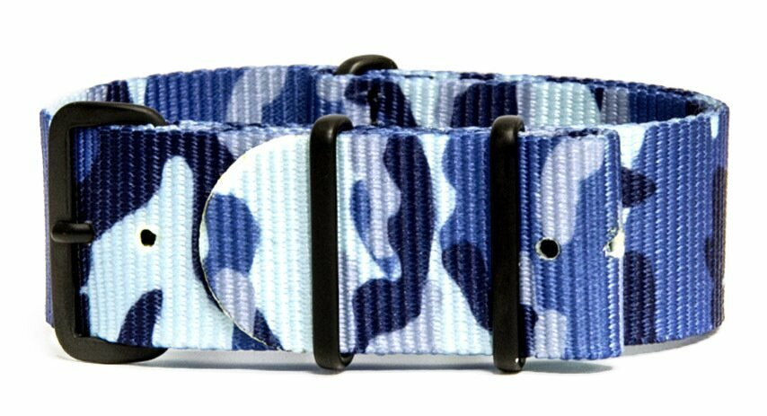 3 Pack - Camo/Military Watch Straps - 22mm