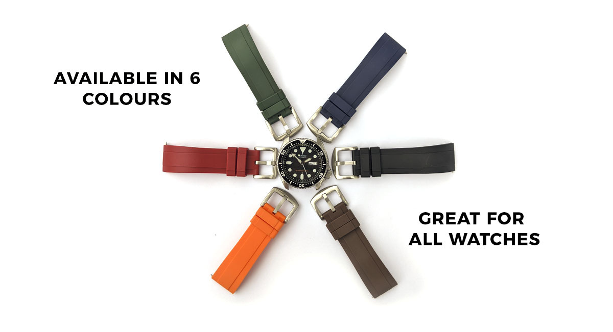 Red Quick Release Silicone Watch Strap