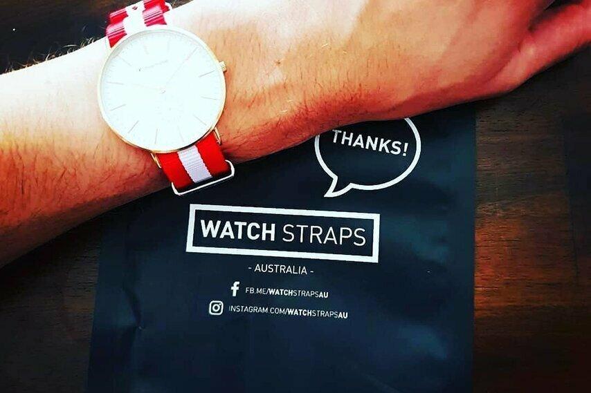 Red and White NATO strap