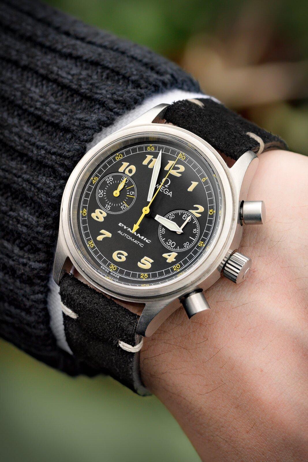 Rios1931 HUDSON Genuine Suede Leather Watch Strap in BLACK
