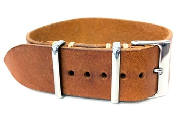 Premium Brown Leather watch strap