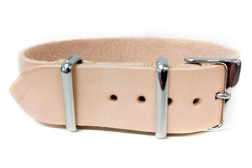 Premium Light-Tan Leather watch strap
