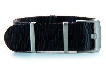 22mm Black Seatbelt NATO watch strap
