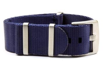 22mm Dark Blue seatbelt NATO watch strap