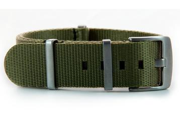 22mm Khaki Green seatbelt NATO watch band