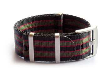 Black, Red and Green seatbelt NATO strap