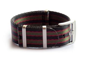 Black, Red and Green seatbelt NATO strap