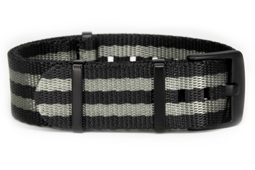 James Bond Seatbelt NATO strap with black PVD buckles