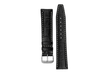 18mm Rios1931 BOSTON Alligator-Embossed Leather Watch Strap in BLACK