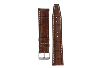 20mm Rios1931 BOSTON Alligator-Embossed Leather Watch Strap in MAHOGANY