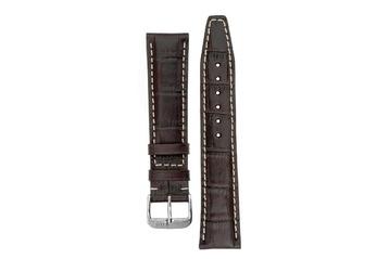 20mm Rios1931 BOSTON Alligator-Embossed Leather Watch Strap in MOCHA