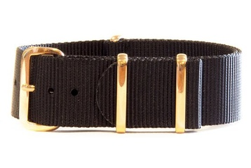 22mm NATO strap with rose gold buckles
