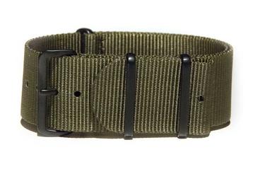Khaki Green NATO strap - with black PVD buckles