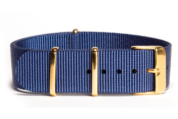Navy NATO strap (with gold buckles)