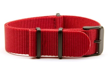 18mm red NATO strap with black PVD buckles