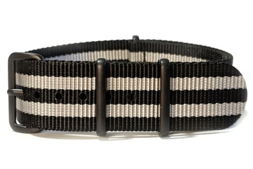 James Bond watch strap (with black PVD buckles)
