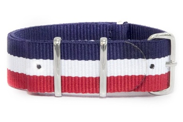 French Flag Watch Strap 24mm