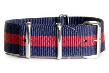 16mm Blue and red NATO strap