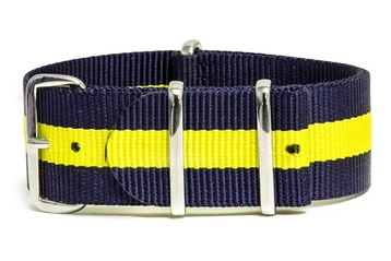 22mm Blue and yellow NATO strap