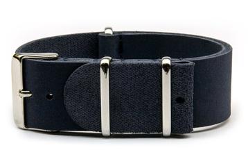 Blue leather NATO strap