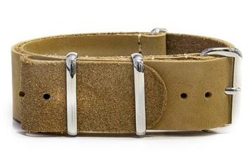 22mm tan leather NATO strap