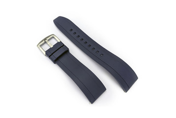 Blue Quick Release Silicone Watch Strap