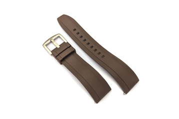 20mm Brown Quick Release Silicone Watch Strap