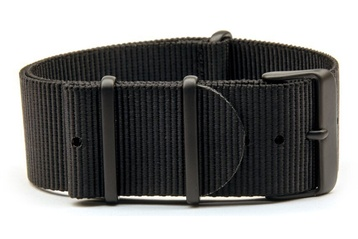 Extra long black watch strap (with black PVD buckles)