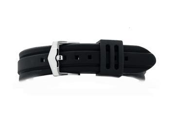 26mm Black silicone rubber watch strap