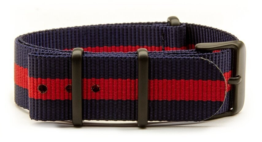 Navy & Red (with black PVD buckles)