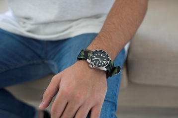 Get your hands on a camo watch strap that certainly doesn't blend in!